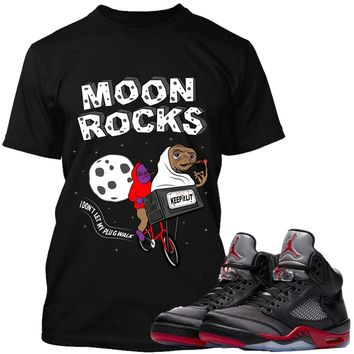 Jordan Retro 5 Satin Sneaker Tees Shirts to Match - MOONROCKS PG