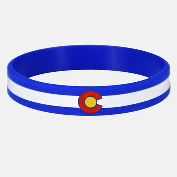 Colorado Flag Motivational Wristband