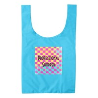 Professional Shopper Colorful Checkerboard Pattern Reusable Bag