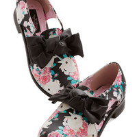 ModCloth Quirky Show Me the Bunny Oxford Flat