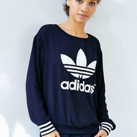 adidas Originals Navy Crepe Track Crew - Urban Outfitters