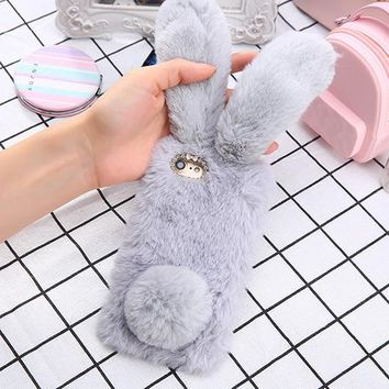 Furry Bunny Phone Case - For iPhone 7, Plus, 8, 8 Plus