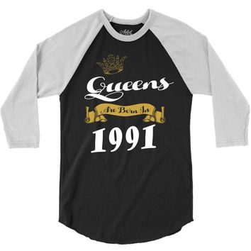 queens are born in 1991 3/4 Sleeve Shirt