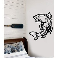 Wall Stickers Vinyl Decal Fish Fishing Club Decor Murals Unique Gift (ig130)