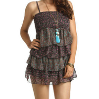 Smocked Tube Tiered Dress - Teen Clothing by Wet Seal