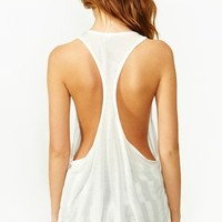 Plunging Racer Tank - White