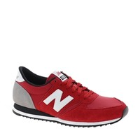 New Balance 420 Red Suede Trainers