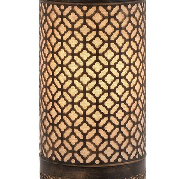 Bright Attractive Styled Metal Cylinder Table Lamp -Benzara