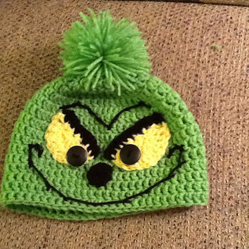 The Grinch crochet beanie - all sizes - made to order