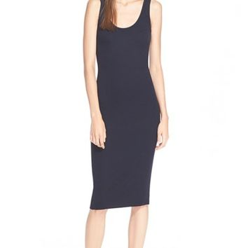 Women's Enza Costa Ribbed Jersey Tank Dress