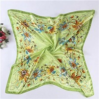 90 * 90CM Fashion Women's Bandana Anti-Silk scarfs