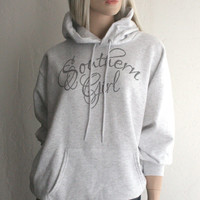 Southern Girl Script on an ash Hoodie Sweatshirt - FREE SHIPPING in the USA