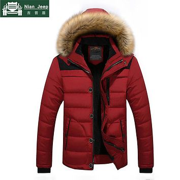 Hot Sale Winter Jacket Men Casual Slim Hooded Parkas Male Wool Liner Outwear Warm High Quality Fur Collar Mens Coats Size M-6XL