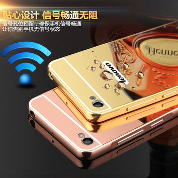 Luxury Mirror Hybrid case For Lenovo S90 S90t hard Aluminum Metal Protective back cover For Lenovo S90 S 90 phone shell
