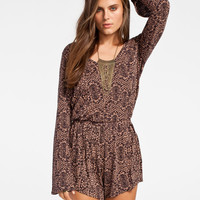 Billabong Free Fallin Womens Romper Black Combo  In Sizes
