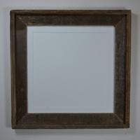 Rustic style picture frame from reclaimed wood 12x12 with mat for 10x10 and smaller photos