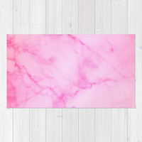Marble Collection: Pink Marble Rug, Pink Girls Nursery Rug, Pink Nursery Decor, Pink Marble Area Rug, Pink Polyester Rug, Pretty Marble Rug