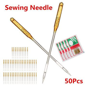 50pcs Household Sewing Machine Needles For Singer Janome Juki Also Fit Old Sewing Macine 90/14