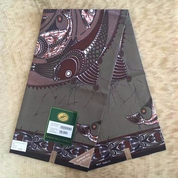 High quality Ankara 100 % cotton supreme wax textiles 6 yards African real prints fabr