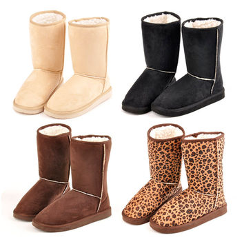 Sale New Hot Fashion Women Winter Warm Mid calf Snow Cold Weather Boots Shoes Free Shipping