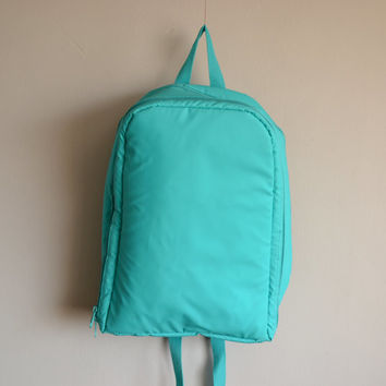 Vintage Sea Foam 80's early 90's Picnic Backpack