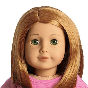 American Girl® Dolls: Light skin with freckles, short red hair, green eyes