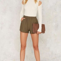 Green With Envy High-Waisted Shorts