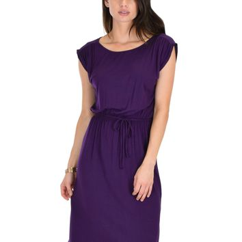 Copy of Lyss Loo My Everyday Tie Waist Purple Midi Dress