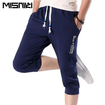 MISNIKI 2017 Summer Casual Slim Jogger Pants Men Casual Slim Calf-length Sweatpants For Men Youths Cotton Boys Pantalon