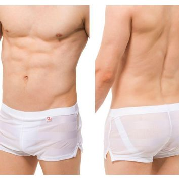 PetitQ PQ180907 Jock Athletic Shorts Color White