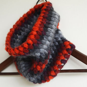 mohair angora wool dark grey burgundy tile cowl cable chunky neck warmers scarf wool cowl winter scarf gift ideas woman scarves