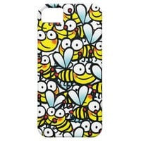 happy colorful cartoon bees crowd iPhone SE/5/5s case
