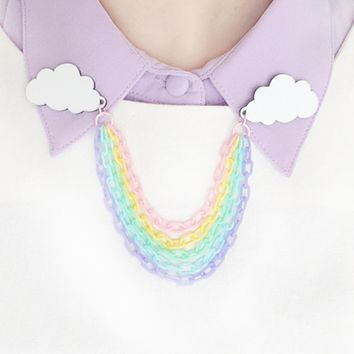 Rainbow collar clips PREORDER