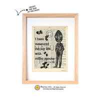 T.S.Eliot quote dictionary print-Kitchen wall art-Eliot art print-Eliot quote on book page-Upcycled Vintage Dictionary art-by NATURA PICTA