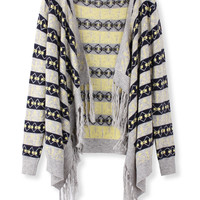 'The Camilla' Geometric Patterned Knitted Cardigan