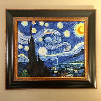 Vincent Van Gogh Starry Night Framed Oil Reproduction Painting