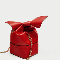 RED CROSSBODY BAG WITH BOW