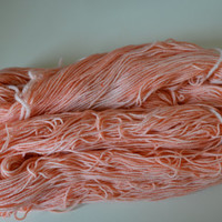 Hand Dyed Superwash Merino/Nylon Fingering/Sock Knitting Crochet Peach