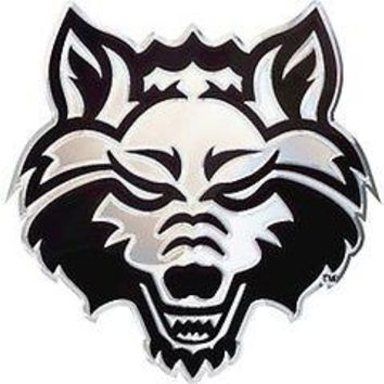 Arkansas State Red Wolves SD76293 Raised Metal Chrome Auto Emblem University of