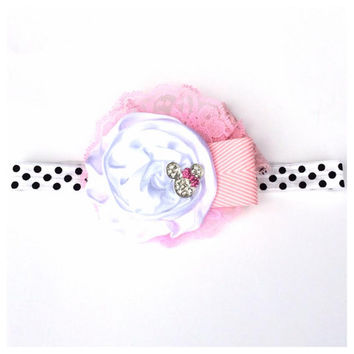 2014 Disney Collection - PINK MINNIE MOUSE Can Can Headband- Disneyland Disney, mickey mouse, Princess Spring, Summer, Newborn, Photo prop