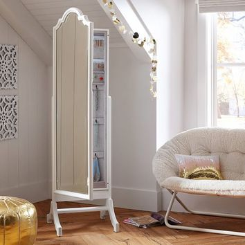 Jewelry Storage Floor Mirror