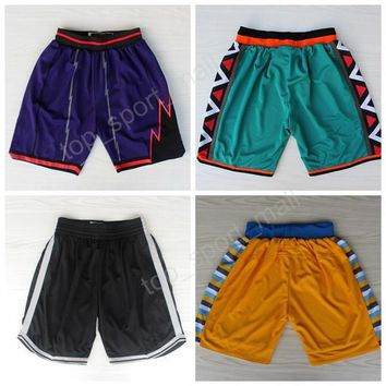 Toronto 1 Tracy McGrady Basketball Shorts 1996 All Star Denver 55 Dikembe Mutombo Pant Sport Brooklyn 7 Jeremy Lin Running Short Team