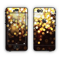 The Gold Unfocused Orbs of Light Apple iPhone 6 Plus LifeProof Nuud Case Skin Set
