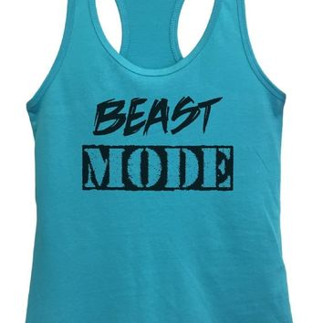 Womens Beast Mode Grapahic Design Fitted Tank Top