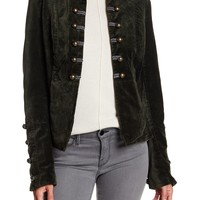 BNCI by Blanc Noir | Velvet Double Breasted Military Jacket | Nordstrom Rack