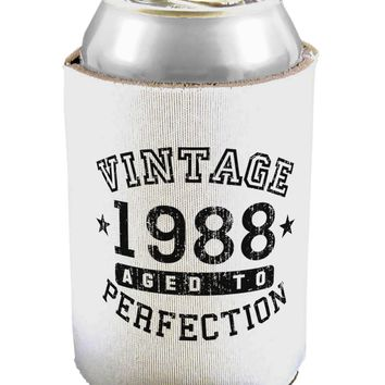 30th Birthday Vintage Birth Year 1988 Can / Bottle Insulator Coolers by TooLoud
