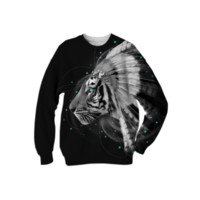 Don't Define Your World In Black & White (Chief of Dreams: Tiger) Unisex Sweatshirt created by soaringanchordesigns | Print All Over Me