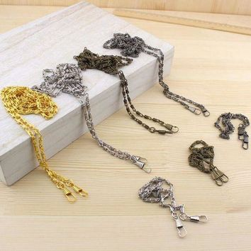 10pcs 120cm Strong And Durable Vintage Metal Shoulder Strap Chain Purse Diy Sewing Handmade Bag Part Cords Purse Handle Lw800