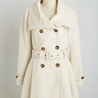 Military Long Long Sleeve Fit & Flare Symphony Stylings Coat