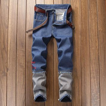 Patchwork Hip-hop Pants Jeans [454562185245]